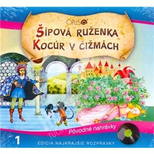 Najkrajšie Rozprávky - Šípová Ruženka / Kocúr v čižmách len 6,99 €
