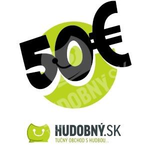 hudobny.sk - Darčekový poukaz v hodnote 50€ len 50,00 €