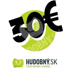 hudobny.sk - Darčekový poukaz v hodnote 30€ len 30,00 €