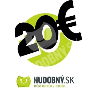 hudobny.sk - Darčekový poukaz v hodnote 20€ len 20,00 €